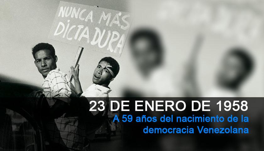 23 de enero de 1958, fin de la dictadura militar y comienzo de la democracia en Venezuela