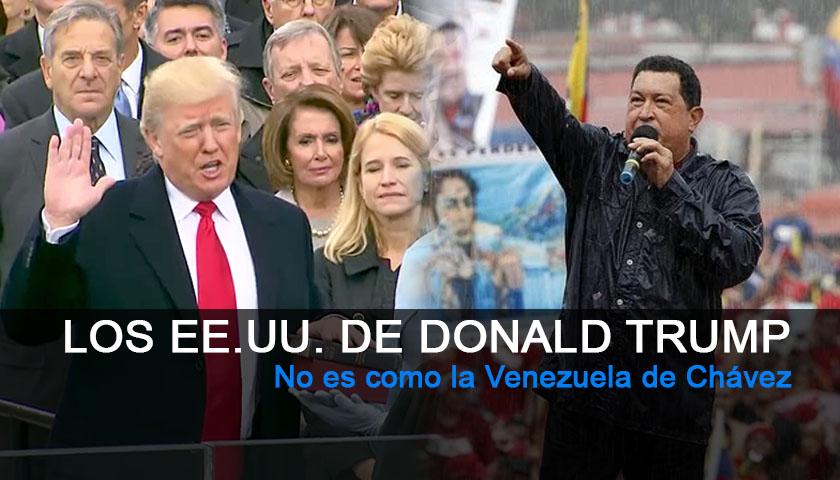Los EE.UU. de Donald Trump no es la Venezuela de Hugo Chavez